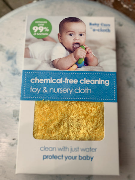 The Toy & Nursery Cloth has long powerful fibers that reach into the nooks and crevices of toys and nursery equipment, removing fingermarks, grease, grime and over 99% of bacteria with just a wipe. All with just water.  The long powerful fibers are ideal for cleaning toys and nursery furniture - all with just water Protects babies and toddlers from chemical sprays and residues Completely eliminates the risks of sensitivities, allergic reactions, rashes and asthma associated with chemical and fragrance addit