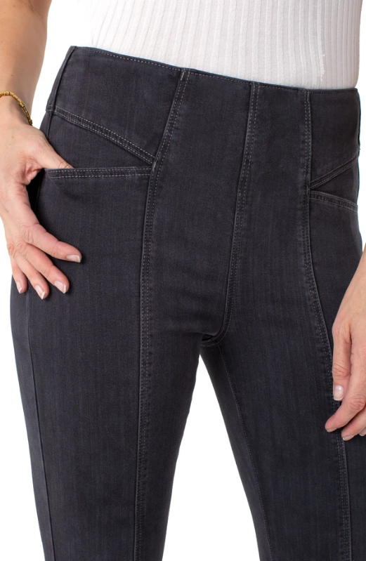 Liverpool Reese High Rise Skinny with Slant Pockets. High standards... literally! Comfortable, sleek and a whole lot of YES! Our Reese hi-rise ankle skinny showcases personality with cat-eye pocket detail and a front elongating seam.