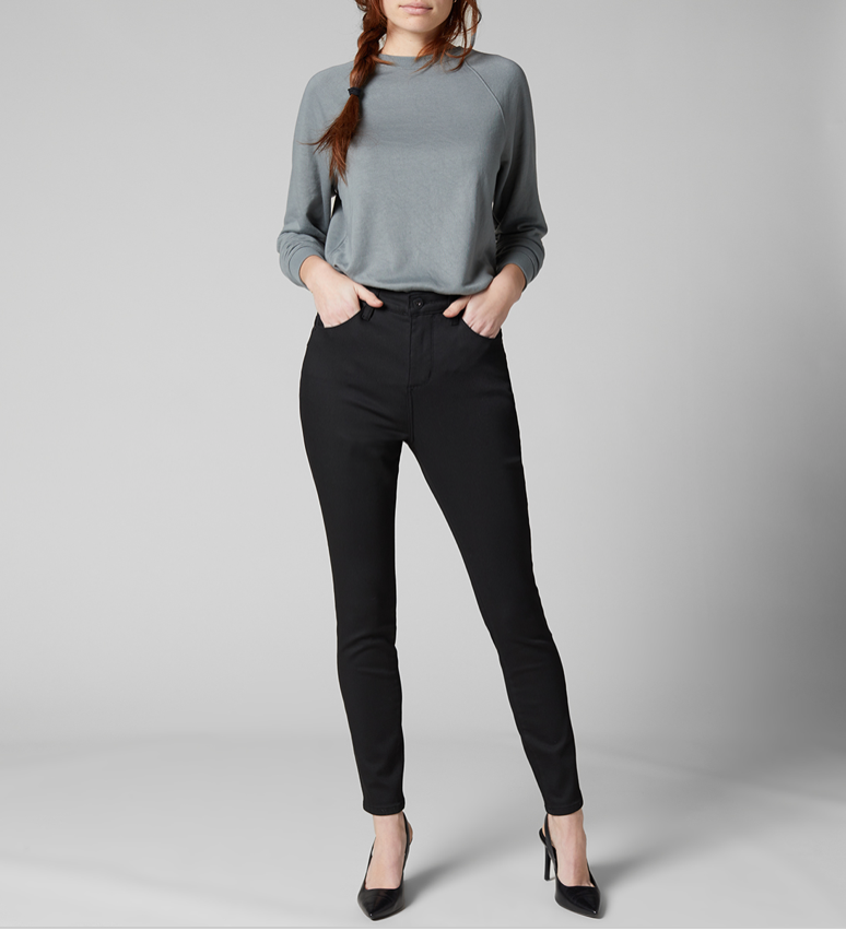 "Our always-classic Cecilia skinny jean that smooths, supports and lifts like no other, now with a 1.5"" higher rise hello legs. Not only is it ultra-elongating, it also features our Best Kept Secret technology. That means smoothing mesh tummy panels and a butt-lifting back yoke... talk about flattering. Finished with classic pocketing and a zip fly."
