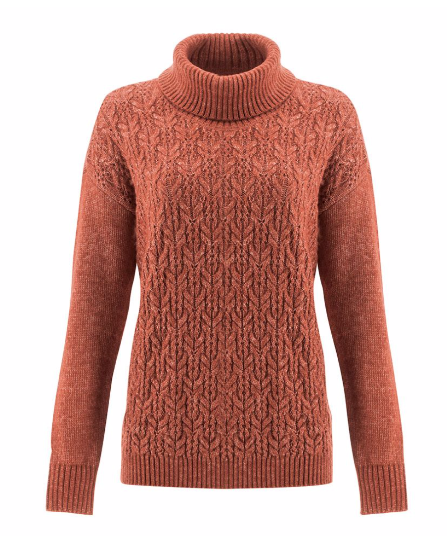 Designed with drop shoulders for the coziest fit, the Delano Sweater combines comfort and style to take you from cuddling on the couch to casual Friday. Its easy fit and rib knit cowl collar guarantee an elevated cozy look. Look closer to appreciate all the pretty pointelle detailing throughout its all-over knit pattern.