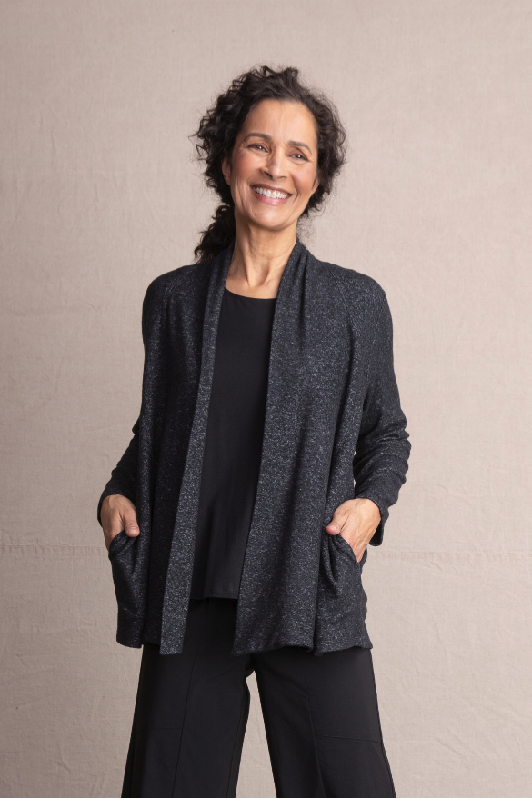 Habitat Super Soft Fleece Cardigan. Crazy soft marbled yarns, deep pockets and a shawl collar. Brushed for extra softness. You'll love this uber soft fabric.