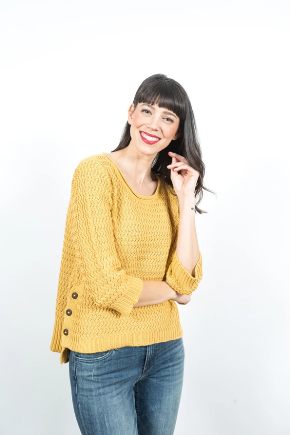 Shannon Passero Wendy Pullover in Mustard. 100% Cotton  Machine wash cold. Low tumble dry. Do not bleach. Low iron if needed
