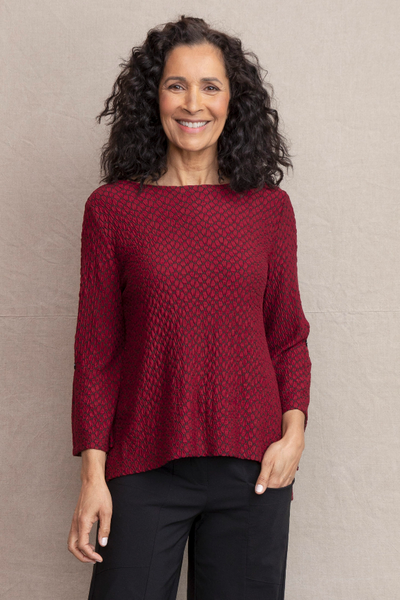 Habitat Stepping Stone Top. Description: A slinky rayon textured fabric that hides bumps and bulges, drapes beautifully and packs well. You're good to go.
