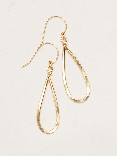 Holly Yashi Madison Earrings. Completely versatile, unique tear-shaped hoops are hand-hammered for a beautifully textured, ultra-modern look. Our Madison Earrings are a style staple for every wardrobe.