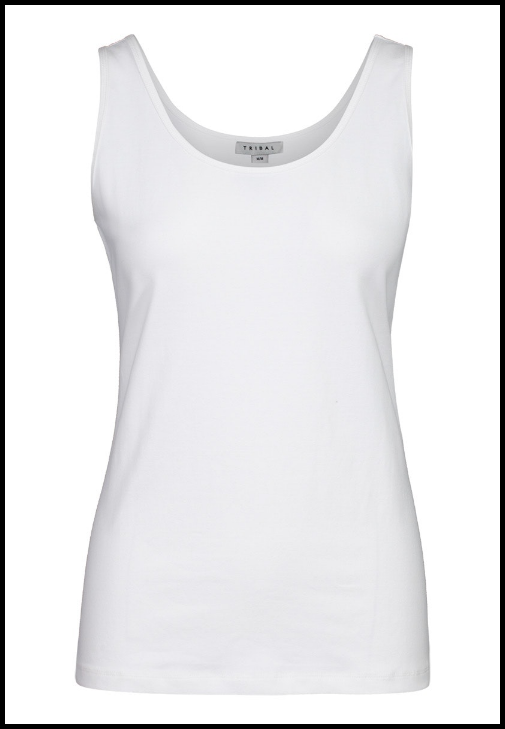 Tribal Basic Tank Top. Classic tank top in a cotton spandex for a great fit. Easy to wear everyday,  95% Cotton, 5% Spandex