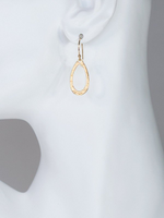 Holly Yashi Rachelle Earrings. A great basic with compelling texture, the chic and stunning simplicity of these tear-shaped hoops make our Rachelle Earrings extremely versatile.