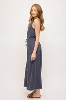 Mystree Modal Sleeveless Drape Top Wide Leg Jumpsuit