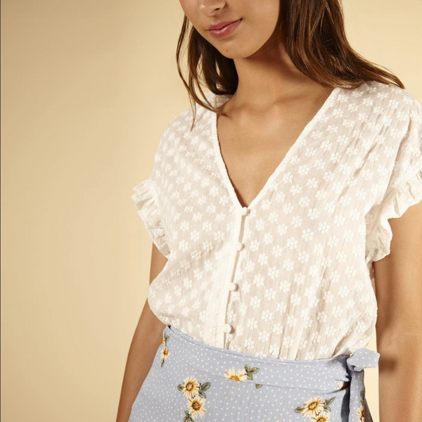 FRNCH Colomba Woven Top