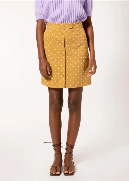 FRNCH Eure Ocre and Flower Skirt