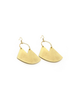 Trades Gold Plate V-Cut Earrings With Swoop DE16038