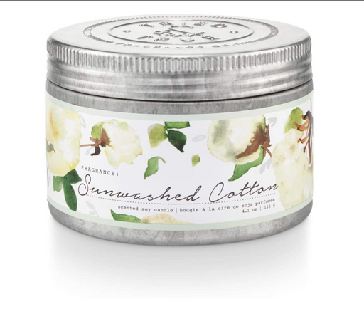 Bring the warmth and freshness of line-dried sheets to your bedroom or living room when you light this 4.1-ounce tin candle featuring notes of lavender, water lily and white jasmine. When lit, this candle's soft, ambient lighting and its unforgettable fragrances provide hours of joy and comfort. Perfect for hostess gifts, stocking stuffers and appreciation gifts.