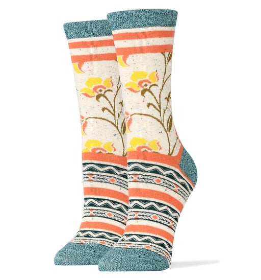 Friendship Blooms Crew Socks