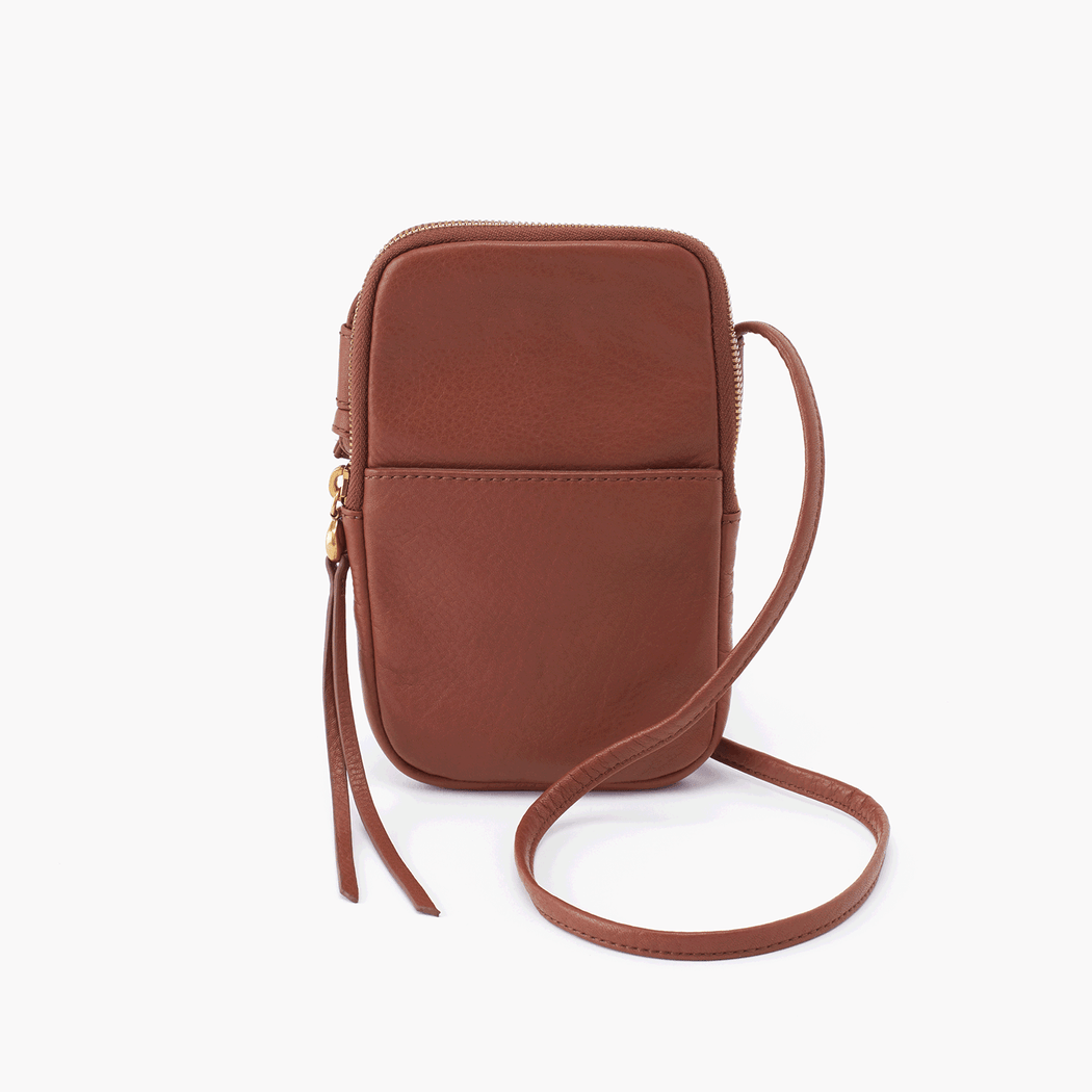 Calling all minimalists! The Hobo Fate phone bag is designed for you; it's the perfect fit for your smartphone, ID, and credit cards. Crafted in our signature velvet hide, our softest and most casual leather that only gets more beautiful over time.