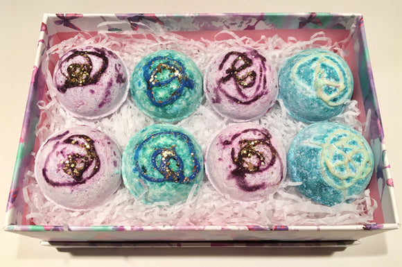 Bath Bombs (8 Mini) in Butterfly Gift Box