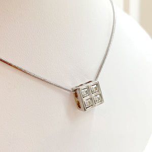 Four Square Crystal Necklace