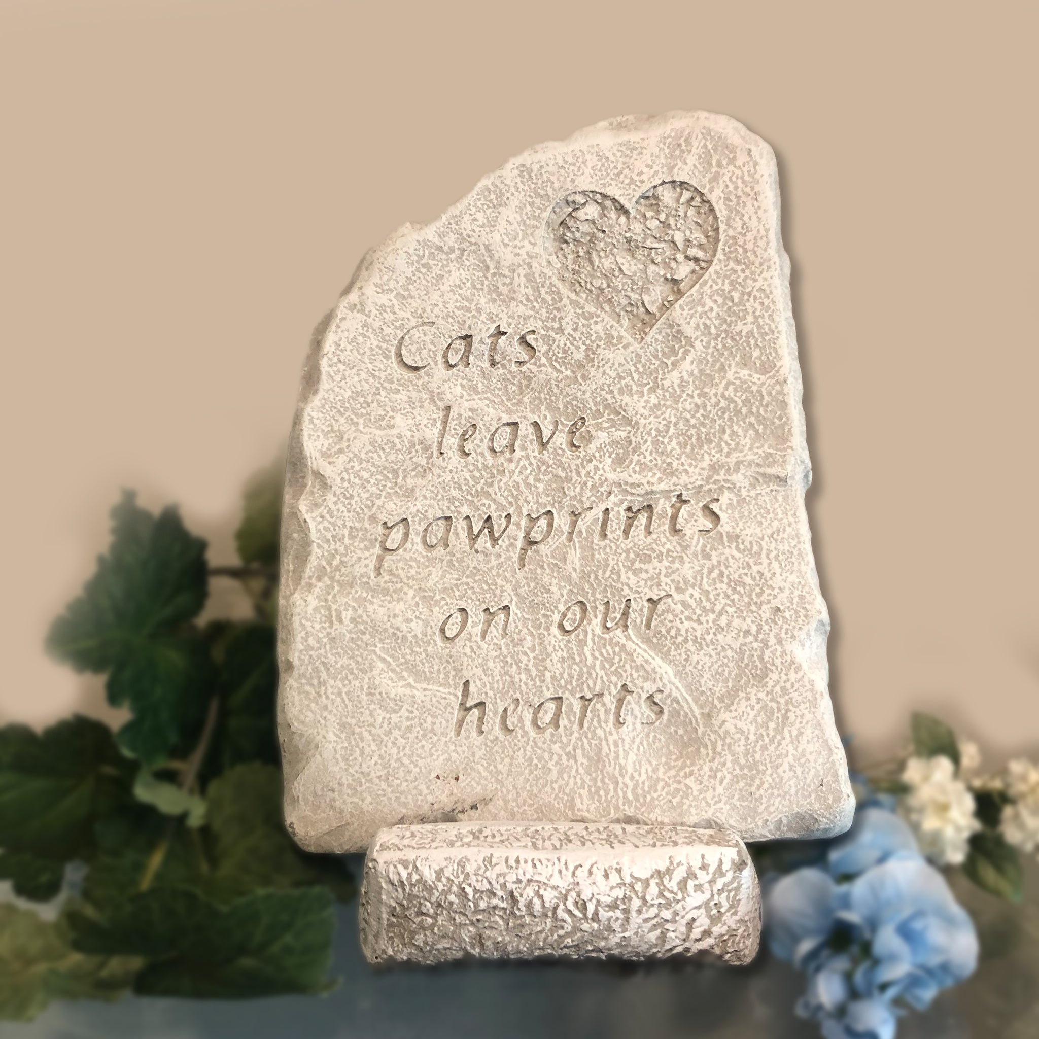 Cats Leave a Pawprint on Our Hearts Plaque