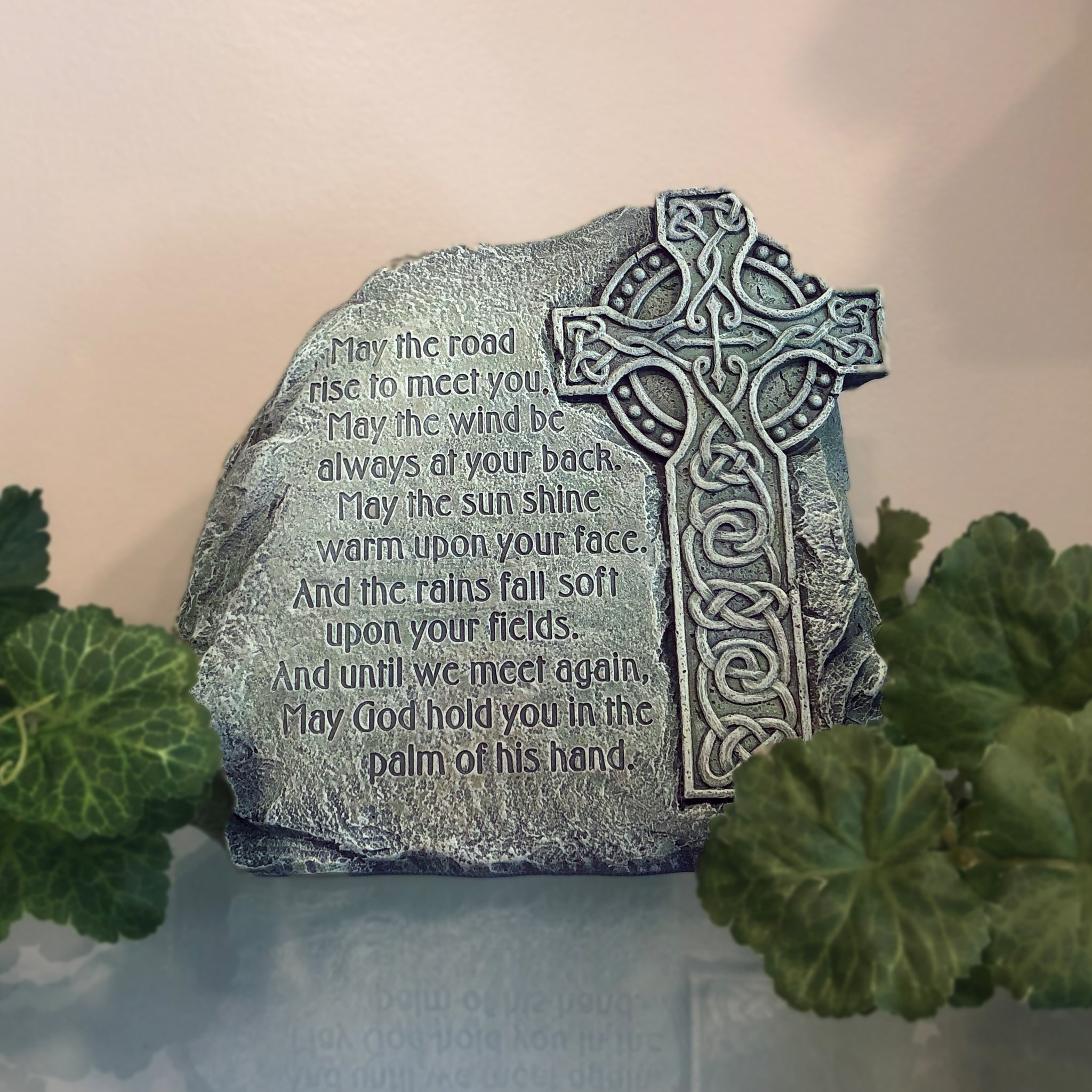 Celtic Cross Garden Stone with Verse