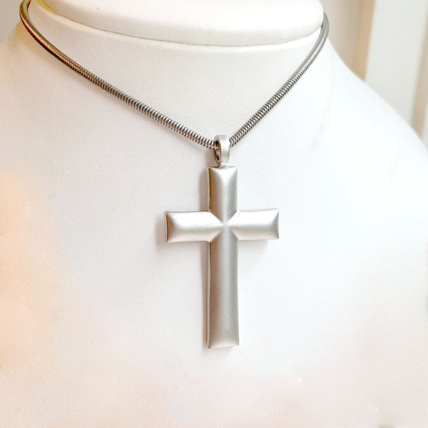 Reversible Cross Necklace