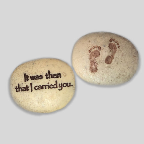 Footprints Faith Stone