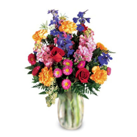 Lush Bouquet of Vivid Colors