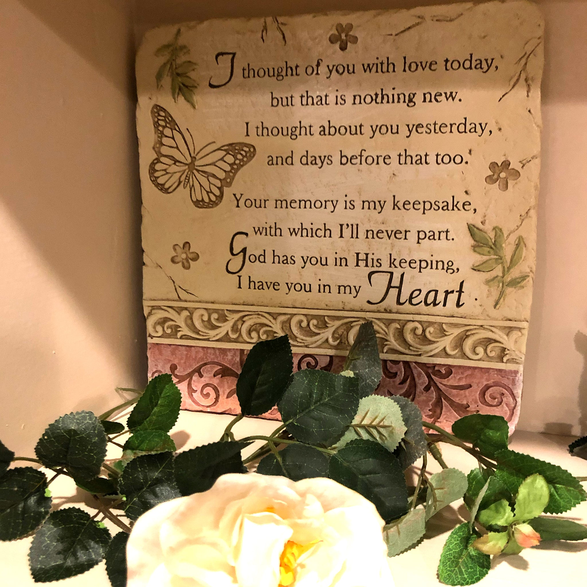 I Thought of You Today Memorial Plaque