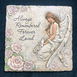 Always Remembered Angel Stepping Stone