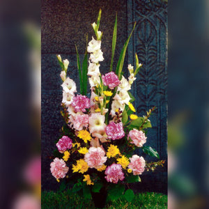 Bouquet with Gladiolas, Carnations, Mini Mums