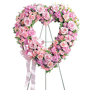 Rose Garden Heart Standing Arrangement