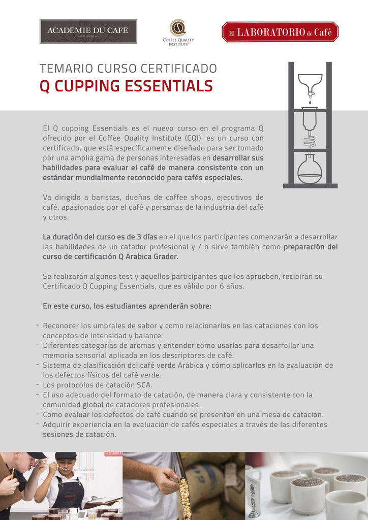 Curso Certificado Q Cupping Essentials