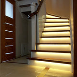 3M 2M 1M LED Smart Stair Light Under Bed Light Control Intelligent Wall Lamp Cupboard Wardrobe Kitchen Light