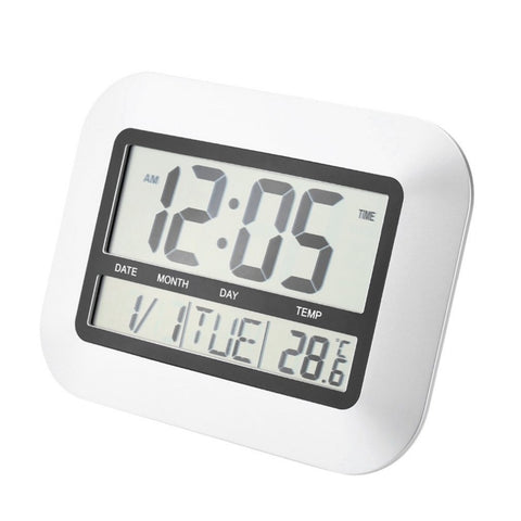 Self Setting Digital Home  Wall Clock With Indoor Temperature