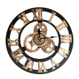 Steampunk Gear Vintage Wooden Wall Time Watch
