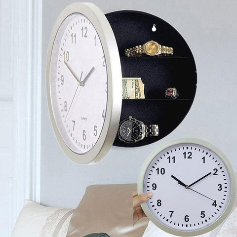 Mutifunctional Hidden Secret Storage Wall Clock