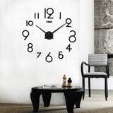 Mirror Large Art Design wall clock 3d