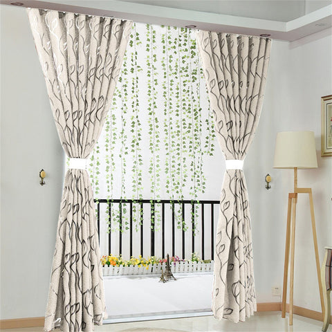Vines Leaves Tulle  Curtain