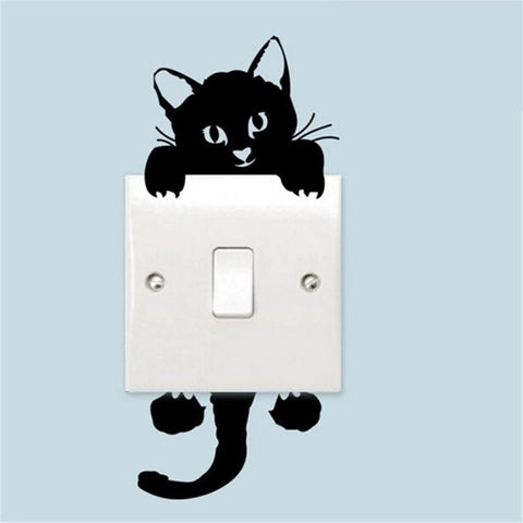 Hot Sale Cute New Cat Wall Stickers Light Switch Decor