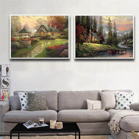 Beautiful Scenery Oil Painting Wall Art Canvas Painting Picture On The Wall Poster And Print Wall Pictures For Living Room Decor