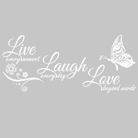 Live Laugh Love Butterfly Flower