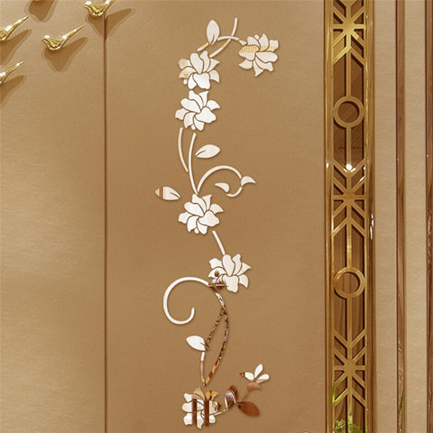 3D Flower Shape Wall Sticker