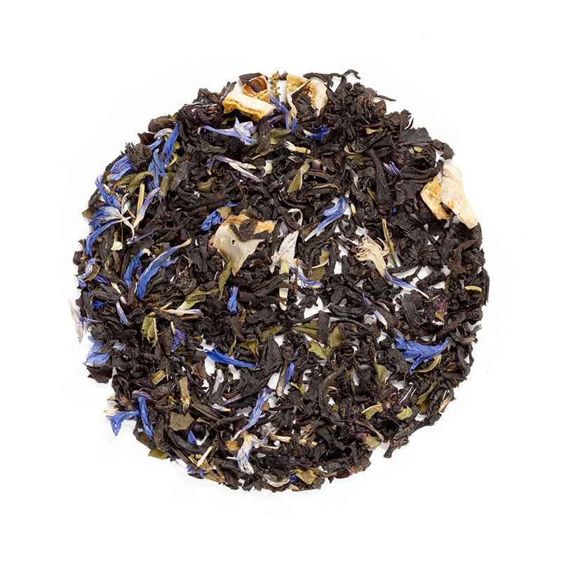 Blueberry Le'Mint Tea - Premium Loose Leaf Black Tea (4 oz) - High Caffeine - Smooth & Rich