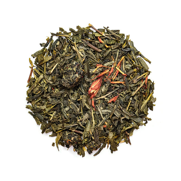 Cherry Green Tea - Premium Loose Leaf Green Tea (4 oz) - High Caffeine - Earthy, Flower Blend - 60 Cups