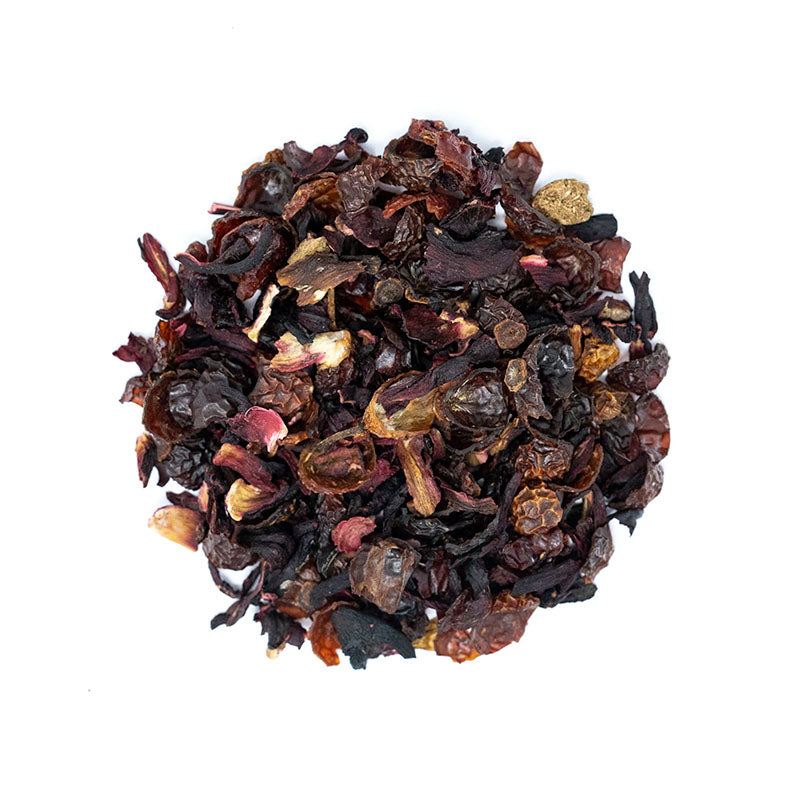 "Cherry ""T"" Herbal Tea - Premium Loose Leaf Herbal Tea (4 oz) - Caffeine Free - Rich & Dark"