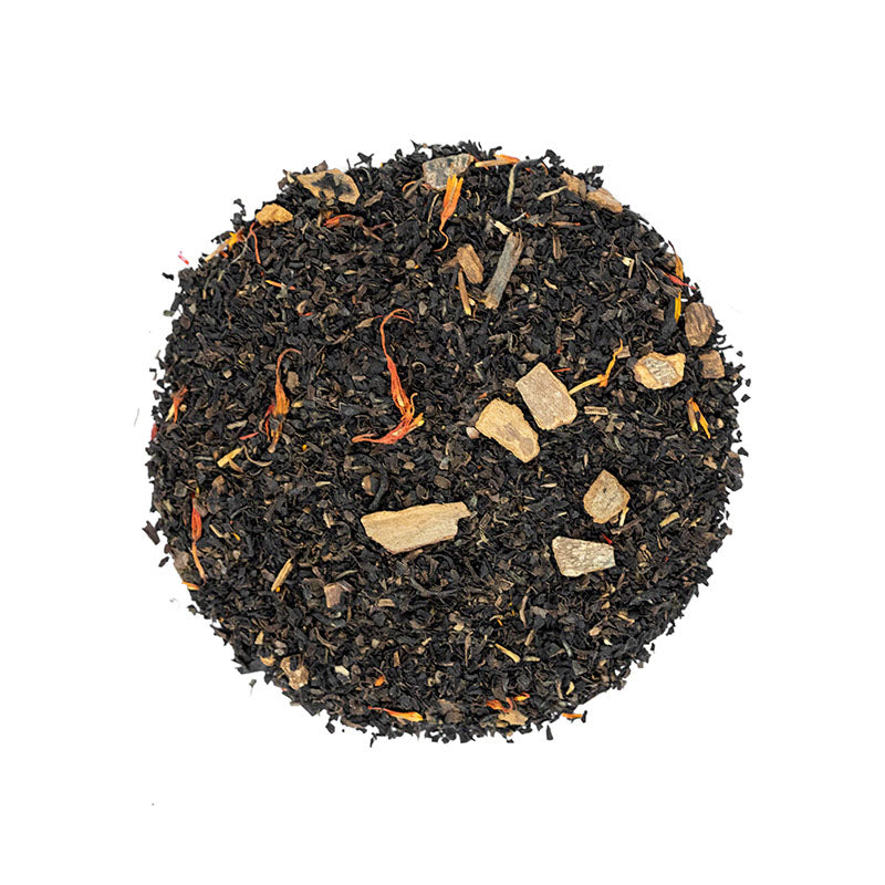 Cinnamon Plum Decaf Black Tea - Premium Loose Leaf Black Tea (4 oz) - Caffeine Free - Spiced Blend