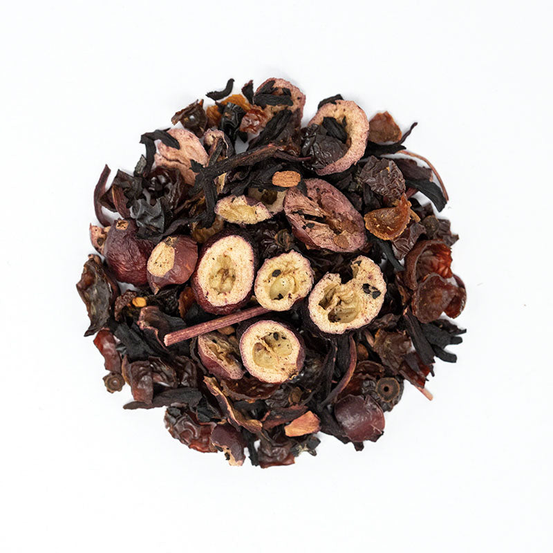 Cranberry Cider Herbal Tea - Premium Loose Leaf Herbal Tea (4 oz) - Caffeine Free - Warm, Mulled Blend - 60 Cups