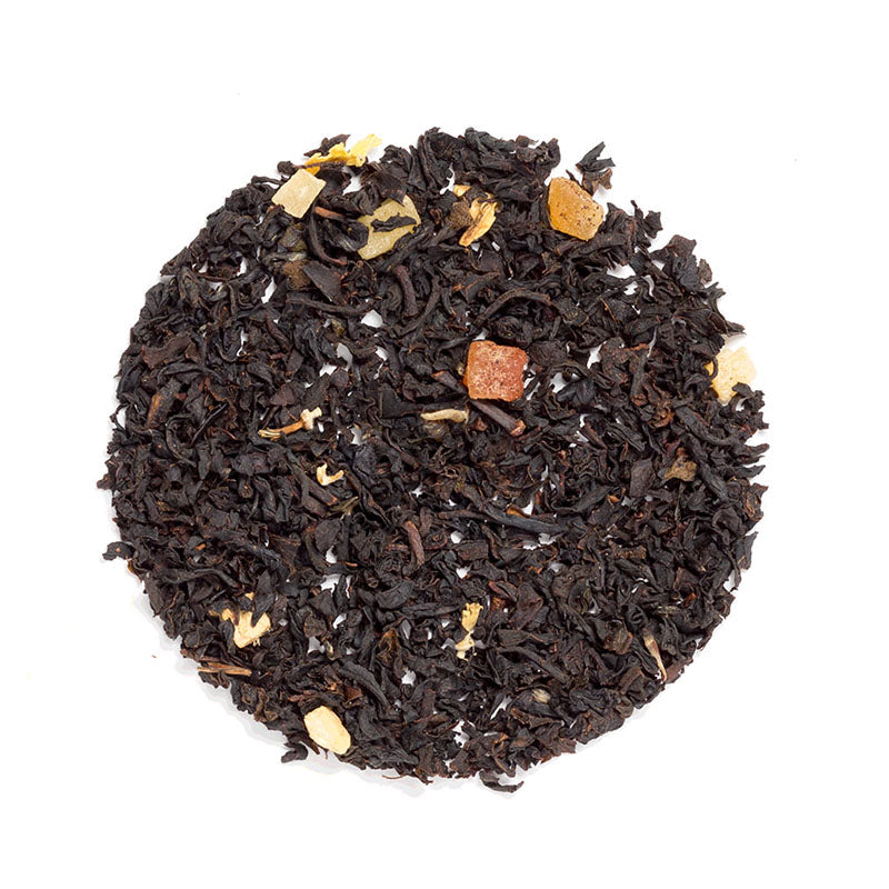 Ginger Peach Black - Premium Loose Leaf Black Tea (4 oz) - High Caffeine - Sweet and Smooth - USA Hand Packaged - 60 Cups