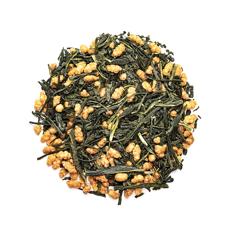 Japanese Genmaicha Tea - Premium Loose Leaf Green Tea (4 oz) - High Caffeine - Bold & Rich