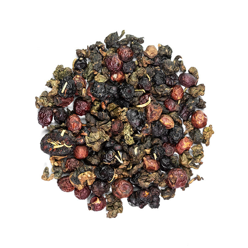Northern Garden Tea - Premium Loose Leaf Oolong Tea (4 oz) - High Caffeine - Berry Blend