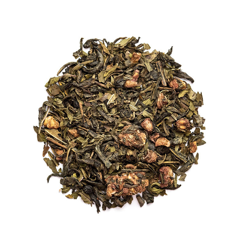 Raspberry Vanilla Mint Green - Premium Loose Leaf Green Tea (4 oz) - High Caffeine - Sweet & Light