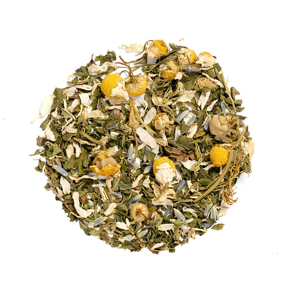 Relaxing Herbal - Premium Loose Leaf Herbal Tea (4 oz) - Caffeine Free - Peppermint, Lavender, and Chamomile - 60 Cups