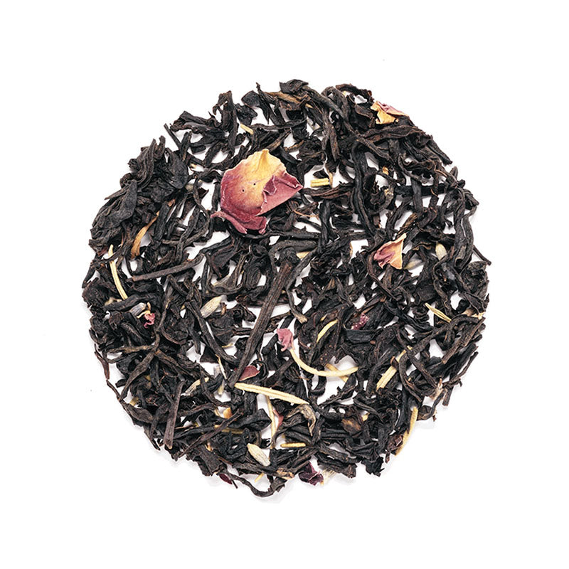 Rose Grey Tea - Premium Loose Leaf Black Tea (4 oz) - High Caffeine - Rosemary & Lavender
